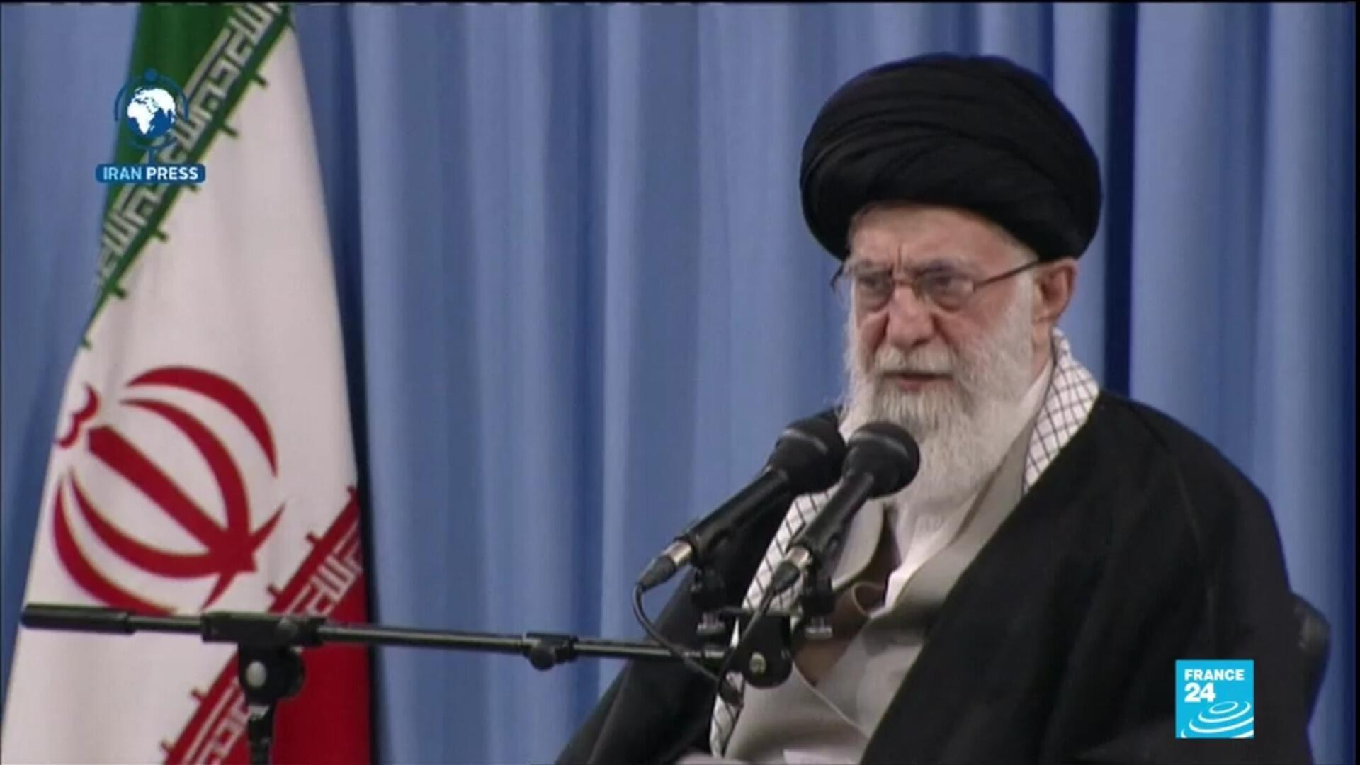 Iranian Supreme Leader Ayatollah Ali Khamenei speaks on public television after missile strikes on US bases in Iraq.