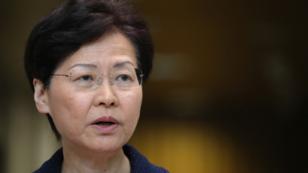 La jefa Ejecutiva de Hong Kong, Carrie Lam. 20 de agosto de 2019.