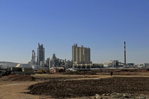Vue générale montrant l'usine de Lafarge Cement Syria (LCS) à Jalabiya, dans le nord de la Syrie, le 19 février 2018