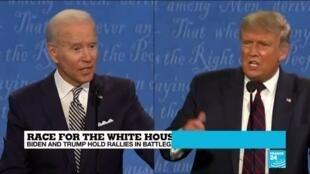 2020-10-14 12:01 Trump, Biden target battleground states in race for White House