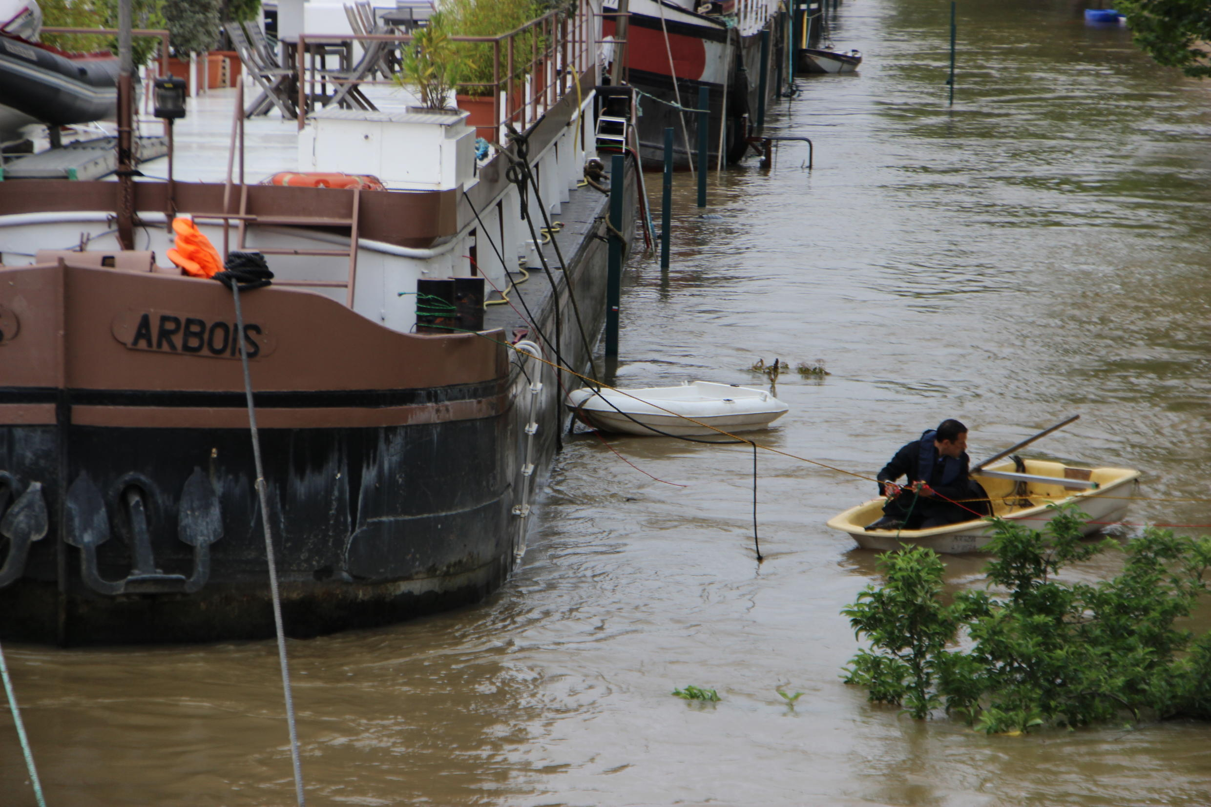It was not a day like any other in Paris, especially for residents who live on barges docked along the River Seine.