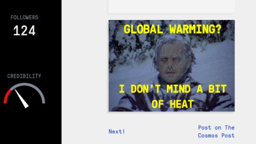 """""""Badnews"""" propose, entre autres, d'incarner un climatosceptique."""