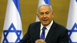 El primer ministro israelí, Benjamin Netanyahu, en la Knesset, Jerusalén, el 27 de mayo de 2019.