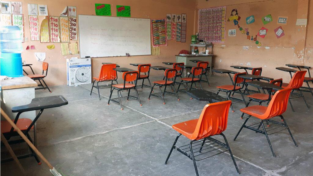 Depuis fin septembre, les écoles de Chilapa de Alvarez, dans le Guerrero, sont fermées en raison de menaces de groupes de narcotrafiquants.
