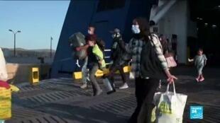 2020-09-30 10:12 Incendie du camp de Moria en Grèce : transfert des réfugiés de Lesbos vers le continent