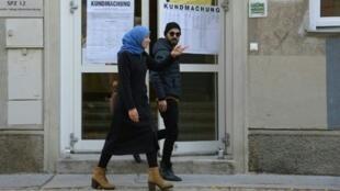 امرأة محجبة في فيينا