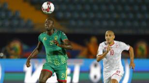 منتخب تونس يواجه موريتانيا على أرضية ملعب السويس. 30 يونيو/حزيران 2019.