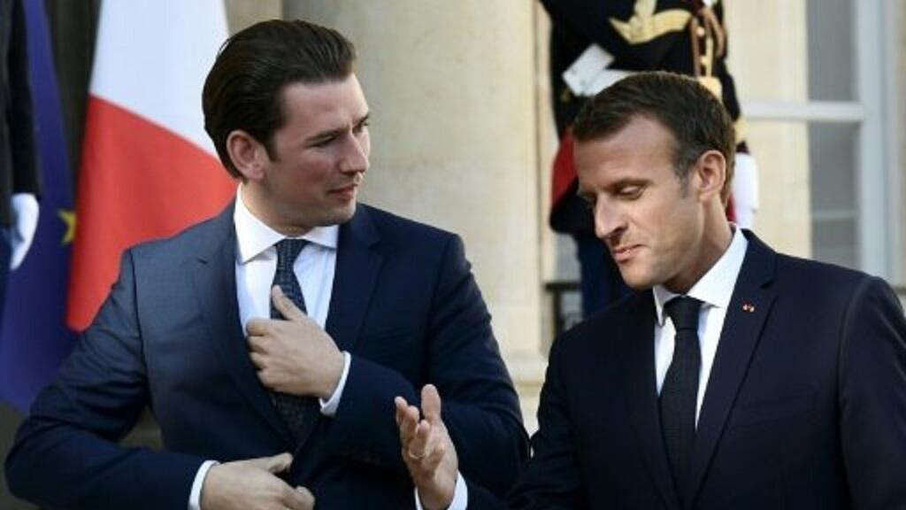 ماكرون وكورتز في باريس 17 أيلول/سبتمبر 2018