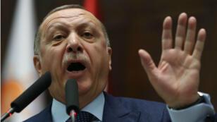 Le président turc Recep Tayyip Erdogan le 30 janvier 2018 à Ankara.