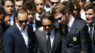 Les grands noms de la F1 ont répondu présent aux funérailles du pilote Jules Bianchi à Nice, le 21 juillet 2015.