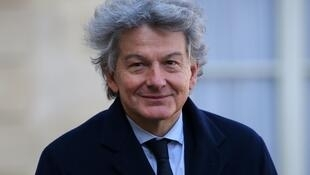 Thierry Breton pictured at the Elysee palace in Paris on February 22, 2018