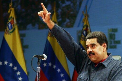 صورة نشرتها الرئاسة الفنزويلية للرئيس نيكولاس مادورو في كراكاس في 19 ايار/مايو 2016