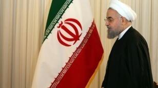 الرئيس روحاني في طهران في 16 كانون الأول/ديسمبر 2015