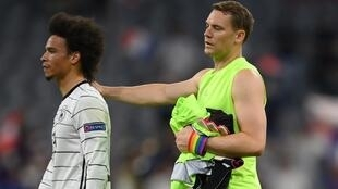 PHOTO Leroy Sané et Manuel Neuer - 15 juin 2021