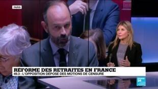 2020-03-02 13:42 Réforme des retraites en France : face au 49.3, des motions de censures sont déposées