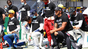 Lewis Hamilton and some drivers took a knee prior to the season-opening Austrian Grand Prix on July 5