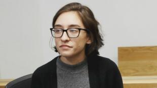 L'étudiante américaine Lara Alqasem est apparue jeudi devant un tribunal israélien.