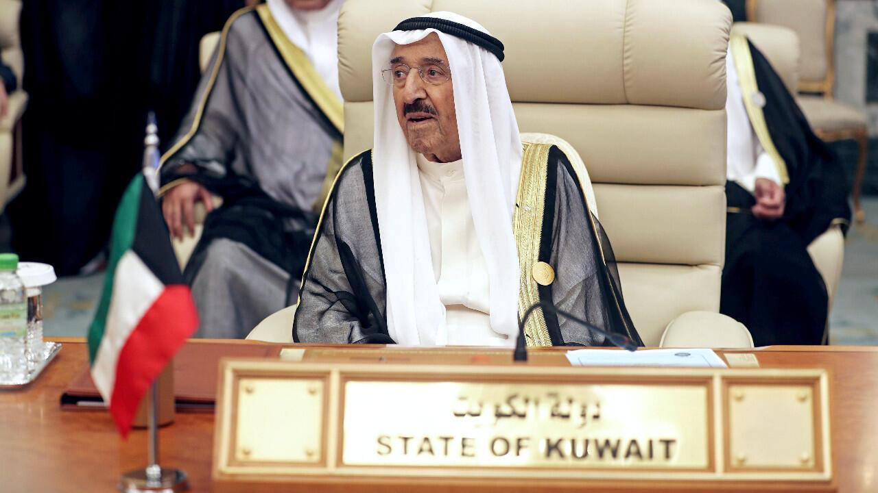 أمير الكويت خلال حضوره القمة العربية في مكة، في 31 مايو/أيار 2019.