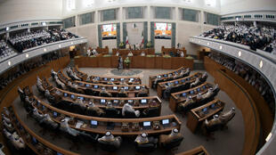 Photographie de l'hémicycle du Parlement koweïtien (illustration).