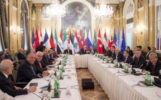 جانب من الاجتماع حول سوريا في فيينا الجمعة