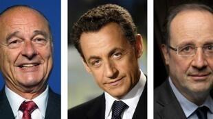 Les trois présidents français à avoir été écoutés par la NSA: Jacques Chirac, Nicolas Sarkozy, François Hollande