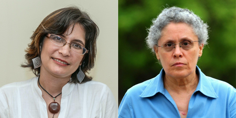 Also held are Ana Margarita Vijil, former leader of the Unamos party (L), and ex-guerilla Dora Maria Tellez