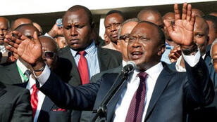 Uhuru Kenyatta, vainqueur de l'élection présidentielle au Kenya.