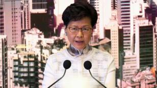 La jefa de gobierno de Hong Kong, Carrie Lam, habla en una conferencia de prensa en Hong Kong , China, el 15 de junio de 2019.