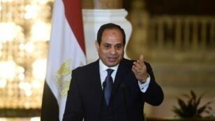 الرئيس المصري عبد الفتاح السيسي في 2 آذار/مارس 2017