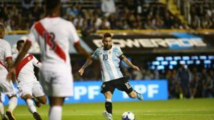Eliminatorias al mundial 2018-Sudamerica-Argentina vs Perú-Estadio La Bonbonera, Buenos Aires, Argentina. Octubre 5, 2017.