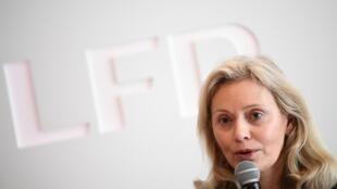 Nathalie Boy de la Tour, présidente de la Liguer de football professionnel (LFP), en conférence de presse le 11 mars 2020 à Paris