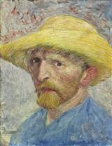 Autoportrait de Vincent Van Gogh datant de 1887, et détenu par la ville de Detroit.