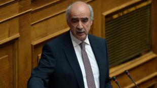 Vangelis Meimarakis, au Parlement d'Athènes le 23 juillet 2015.