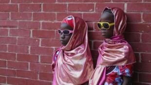 Mellizos Maryam y Fátima en la ciudad nórdica de Maiduguri