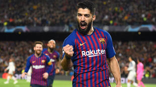 لويس سواريز لاعب برشلونة إثر تسجيله الهدف الأول أمام ليفربول 1 مايو/أيار 2019