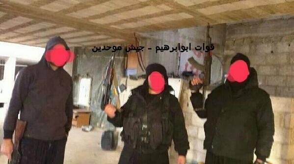 صورة متداولة لمقاتلين من جيش أبو إبراهيم الموحدين الدروز