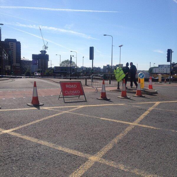 La route vers l'Arena a été barrée.
