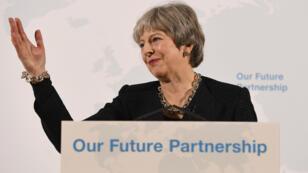 رئيسة الوزراء البريطانية تيريزا ماي 2 آذار/مارس 2018