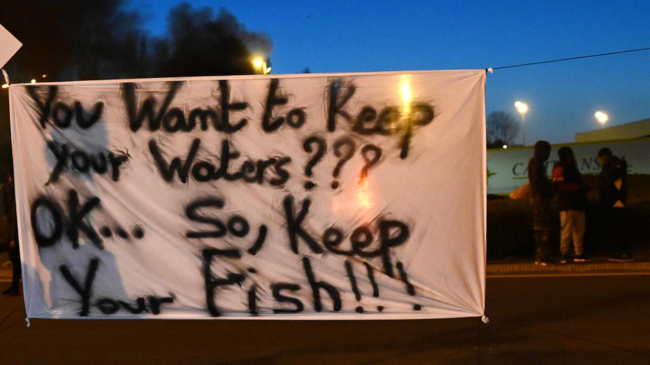Brexit fishermen protest