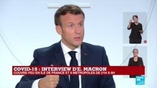"""2020-10-14 20:23 REPLAY - Emmanuel Macron préconise """"deux à trois jours de télétravail par semaine"""""""