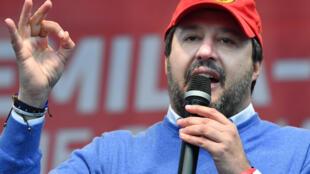 زعيم حزب الرابطة الإيطالي ماتيو سالفيني
