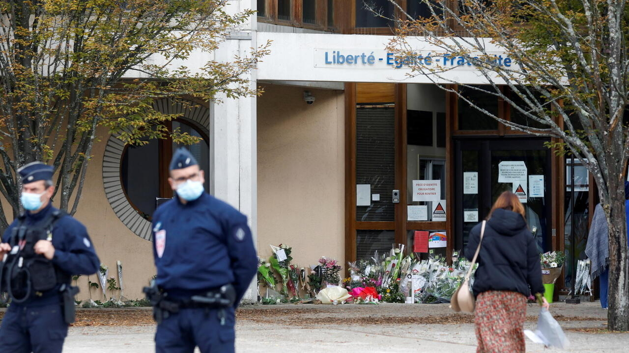French prosecutor speaks to media about teacher's beheading near Paris