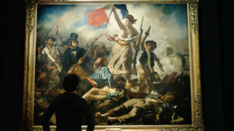 Delacroix Après La Liberté Guidant Le Peuple Une