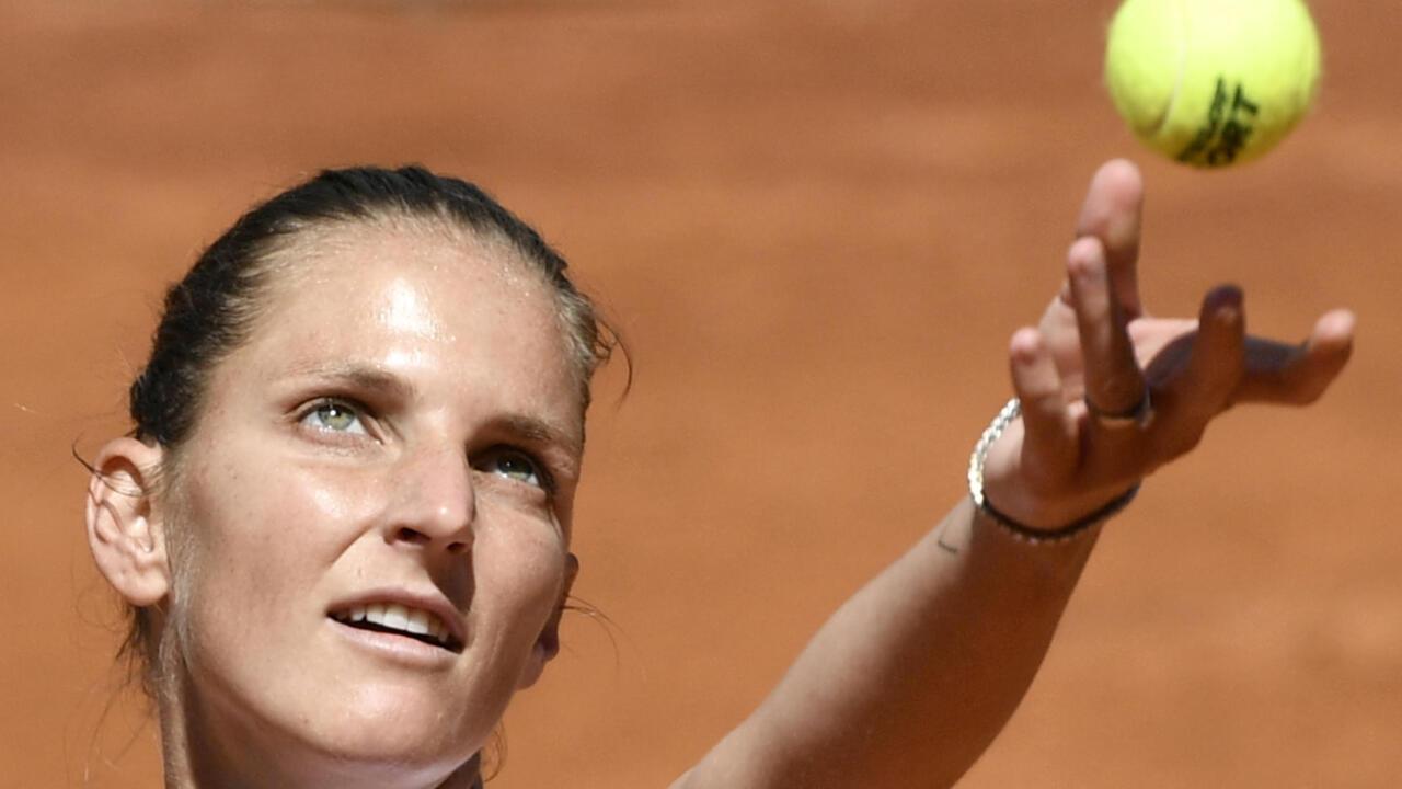 Pliskova into third straight Rome final