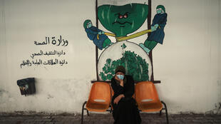 تهاني الريفي التي تعاني من سرطان الغدة الدرقية في قطاع غزة في الأول من شباط/فبراير 2021
