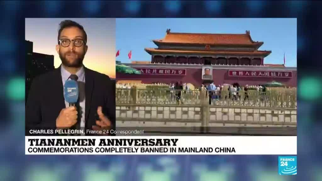2021-06-04 14:03 Tiananmen commemorations completely banned in Mainland China
