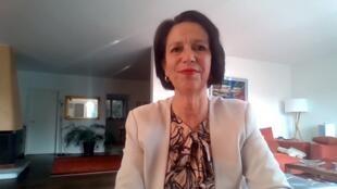 Christine Schraner Burgener, UN special envoy on Myanmar, speaking to FRANCE 24