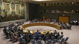 Réunion du Conseil de sécurité de l'ONU, le 28 août 2018.