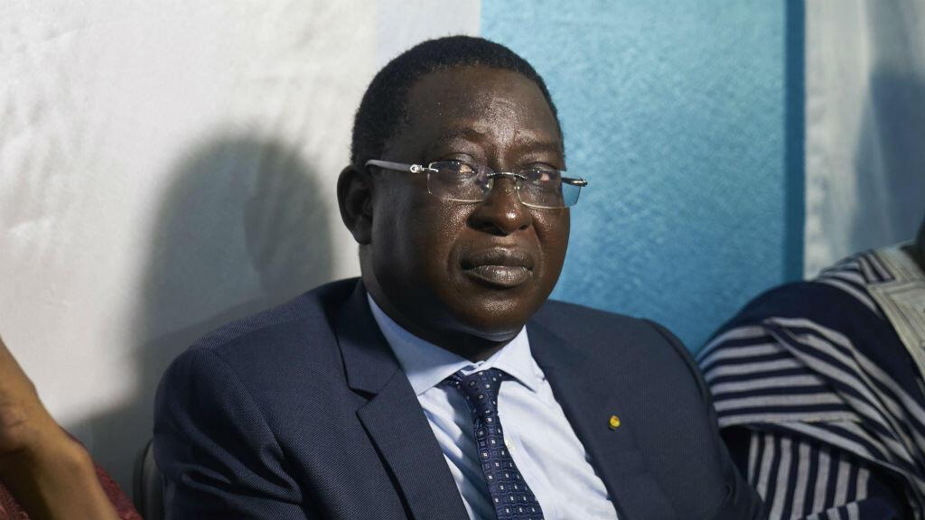 Soumaïla Cissé à la Maison de la presse de Bamako, le 1er août 2018.