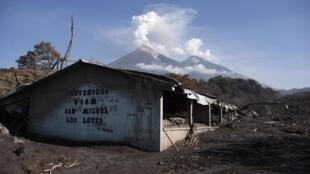 La comunidad de San Miguel de Los Lotes fue una de las más devastada por la erupción del volcán de Fuego el 3 de junio